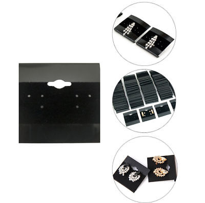 100pcs Black 2x2 Earring Display Hanging Flocked Cards Jewelry Showcase Bulk