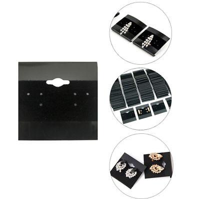 100pcs Black 2x2 Earring Display Hanging Flocked Cards Jewelry Showcase Bulk