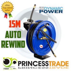 BRAND NEW 15M AUTO RETRACTABLE REWIND AIR HOSE REEL