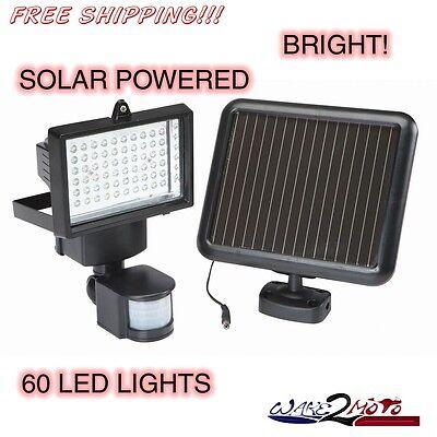 60 LED Security Light with Motion Solar Power Detector Sensor Outdoor Garden