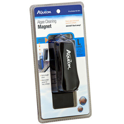 Aqueon Glass/Acrylic Aquarium Algae Cleaning Magnet Large For Up to 300 gallon