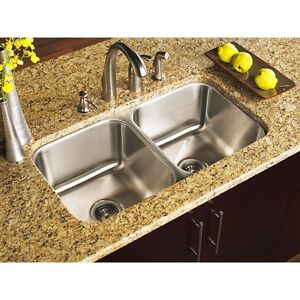 Stainless Steel Undermount Kitchen Sink Double 16G 50/50  Equal