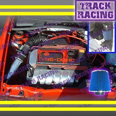 92-98 Volkswagen Jetta Glx\corrado Slc 2.8 Vr6 V6 Cold Air Intake Kit Black Blue