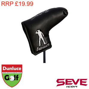 MD GOLF SEVE ICON BLACK PUTTER HEAD COVER - FITS BLADE / HEEL TOE - BALLESTEROS