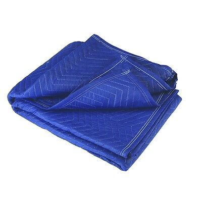 72 X 80 Movers Blanket Blue Poly Cotton Padded Quilted 6x6.5 Furniture Moving