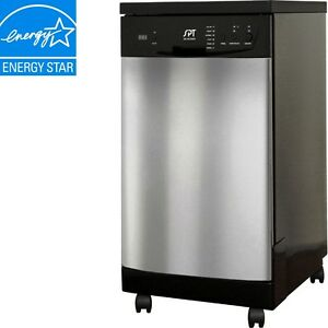 Portable-Dishwasher-Stainless-Steel-18-Compact-Apartment-Dish-Washer ...