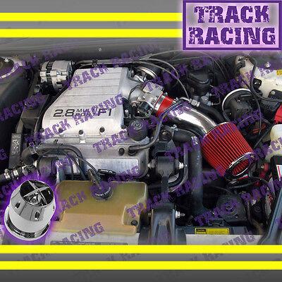 88 89 90 91 92 93 94 Chevy Cavalier Z24 2.8 2.8l\3.1l V6 Air Intake Kit+chf Red