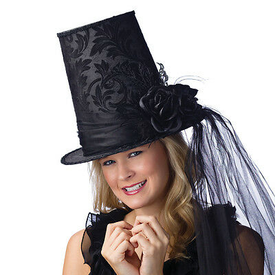 Damask Tapered Top Hat Halloween Costume Accessory Fun