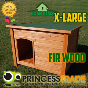 X-Large-Timber-Dog-Kennel-Wooden-Log-Cabin-Wood-Pet-House-Indoor-Outdoor