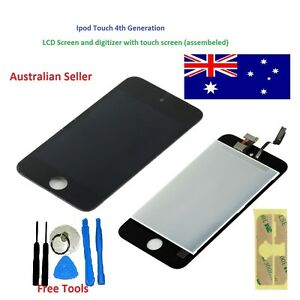 LCD Digitizer assembly Touch Screen for iPod Touch 4G 4GN 4 Replacement + tools