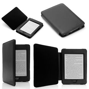 BLACK-GENUINE-LEATHER-CASE-COVER-FOR-KINDLE-PAPERWHITE-3G-Wi-Fi