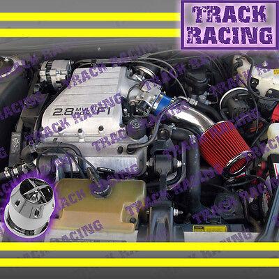 88 89 90 91 92 93 94 Chevy Cavalier Z24 2.8l\3.1l V6 Air Intake Kit+chf Blue Red