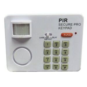 WIRELESS MOTION SENSOR ALARM PIR SECURITY KEYPAD HOME GARAGE SHED CARAVAN