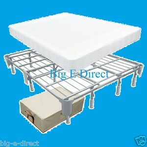 better thana box spring metal bed frame for cal king queen full twin xl mattress ebay. Black Bedroom Furniture Sets. Home Design Ideas