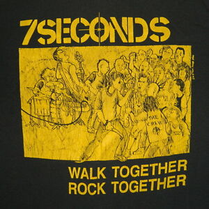 VTG-7-SECONDS-1984-ORIGINAL-WALK-TOGETHER-ROCK-TOGETHER-T-SHIRT-CONCERT-PUNK-80S