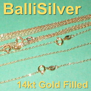 SALE-100-pcs-14kt-GOLD-FILLED-Fine-Flat-CABLE-Chain-NECKLACES-50x16-5-50x18