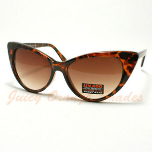 50s-VINTAGE-Fashion-OVERSIZED-CAT-EYE-Classic-Sunglasses-For-WOMEN-TORTOSIE