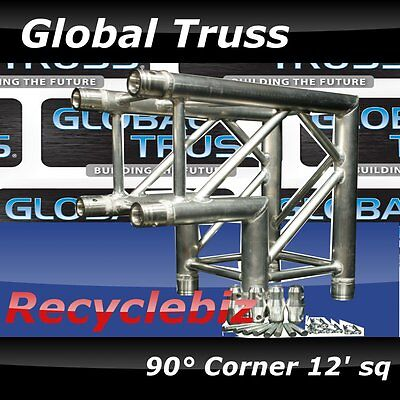 """Global Truss SQ-4121 Two Way 90° Corner (with PINS) """"12 Square FREE SHIPPING"""