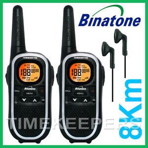 8Km BINATONE TERRAIN 750 Walkie Talkie 2 Two Way PMR 446 Long Range Radio -