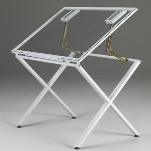 LARGE GLASS Drawing Art Drafting Table Desk Hobby Craft