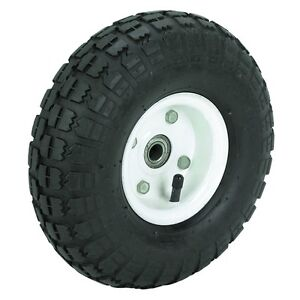 TWO-2-10-10-in-Haul-Master-Pneumatic-Tires-on-White-Wheels-4-10-3-50-4