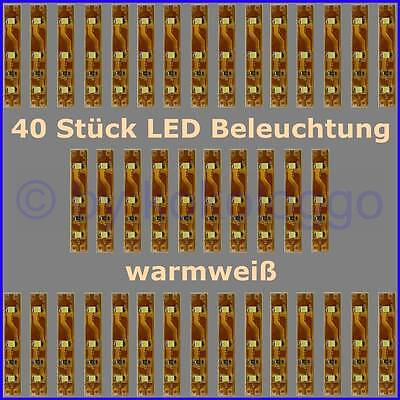 s332 40 st ck led beleuchtung 5cm warmwei h user waggons rc modelle uvm ebay. Black Bedroom Furniture Sets. Home Design Ideas