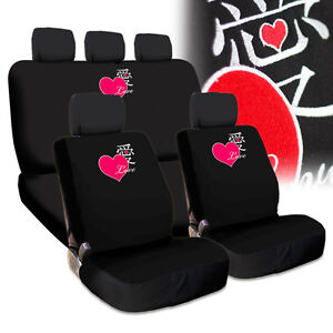 New Fun Love Heart Design Embroidery Car Truck SUV Seat