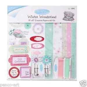 Docraft 'Winter Wonderland' me to you tatty teddy Christmas card craft kit 8x8