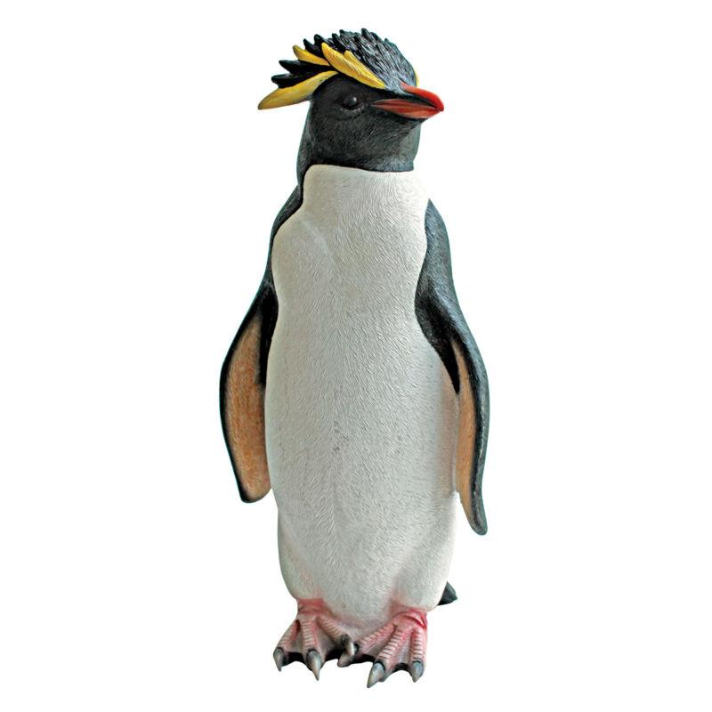 Frosty Arctic Tuxedo Penguin Garden Sculpture Spa Poolside Statue