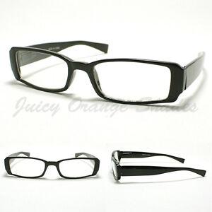 small rectangular eyeglass frames black simple classic