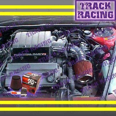 90-93 Chevy Lumina Oldsmobile Cutlass Supreme 3.4l V6 Air Intake+k&n Black Red
