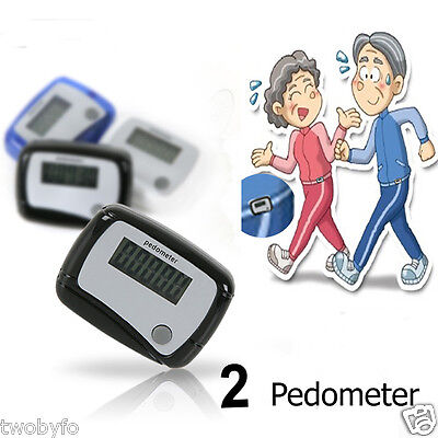 2x Pedometer (Simple Function) Walking Steps health-meter / Family gifts.