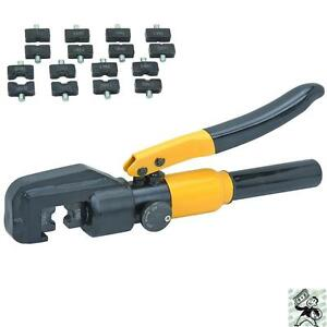 New-Hydraulic-Electric-Wire-Crimping-Tool-Set-Crimper-and-8-Dies-Automotive
