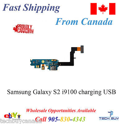 Samsung Galaxy S2 i9100 charging USB port dock ribbon flex cable with microphone