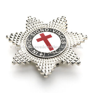 Superb Quality Masonic Knights Templar Breast Star