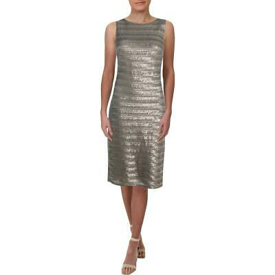 Lauren Ralph Lauren Womens Torinne Metallic Sleeveless Sheath Dress BHFO 7515