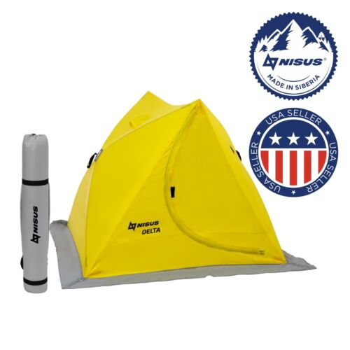 NISUS Delta Pop-up Portable 2-person Ice Fishing Tent Shelter