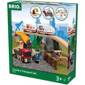 BRIO WORLD 33109 - Country Transport Set 38 teilig ICE LKW Kran Figuren NEU/OVP