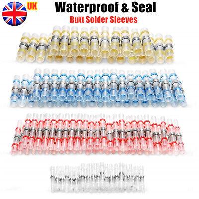 50/20x Solder Seal Sleeve Heat Shrink Butt Wire Connectors Terminals Waterproof