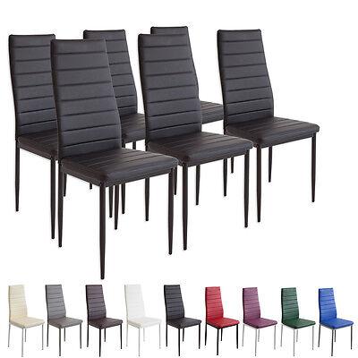 6 x Esszimmerstühle MILANO - schwarz - Esszimmerstuhl Küchenstuhl Stuhl Stühle (Esszimmer Stuhl, Moderne)