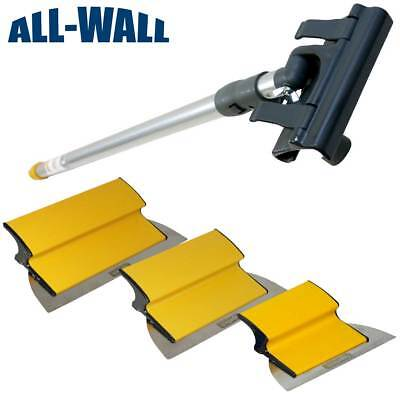 Tapetech Drywall Finish Smoothing Blade Set 7-10-12 Knives Extension Handle