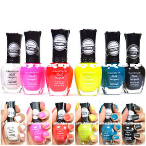 """KLEANCOLOR Nail Polish New Hot """"Matte Collection"""" Lot of 6 Colors"""