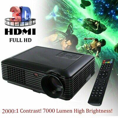 4K 1080P HD Android LCD 3D LED Projector HDMI/USB/AV/VGA/TF Home Theater Cinema