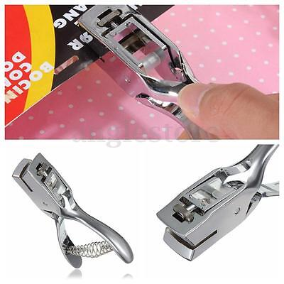 Badge Slot Punch Hand Held Metal Steel Slotting Tool Slotted Hole Puncher Cards