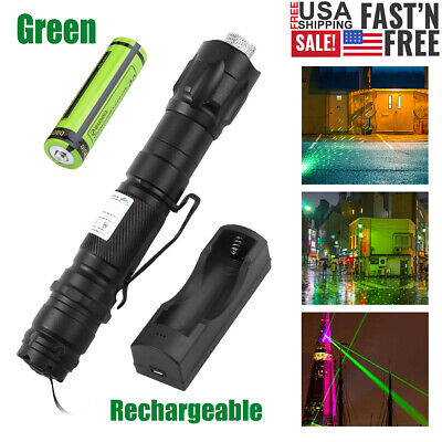 Green Laser Pointer High Power Visible Beam Star Cap 18650 Battery Charger