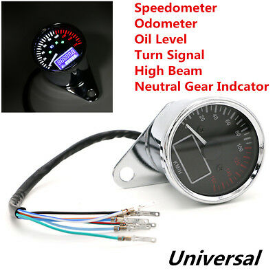 Multifunction Motorcycle LCD Digital Speedometer Odometer Fuel Level Gauge Meter for sale  China