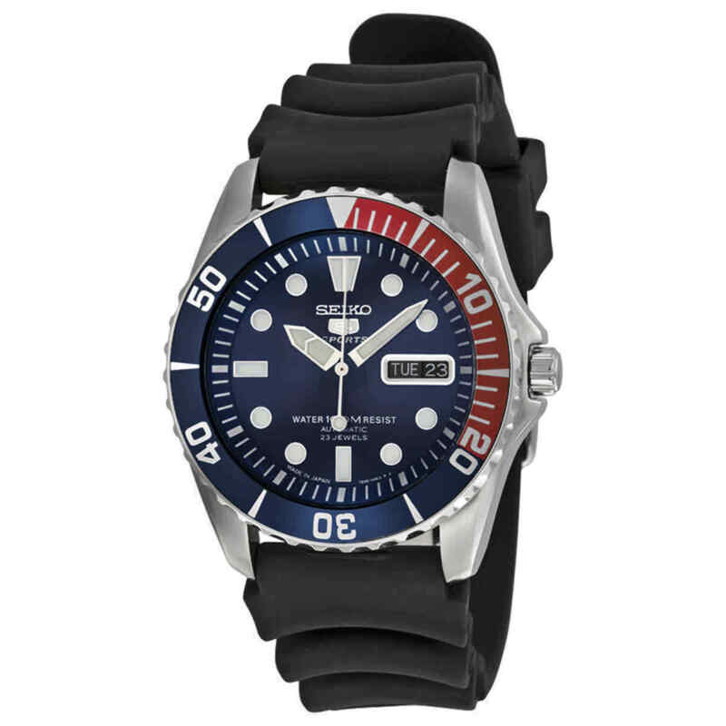 Seiko-5-Sports-Automatic-Blue-Dial-Pepsi-Bezel-Men-Watch-SNZF15J2