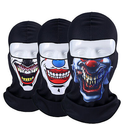 Halloween Clown Face (3D Clown Jocker Balaclava Full Face Mask Winter Ski Halloween Cycling)