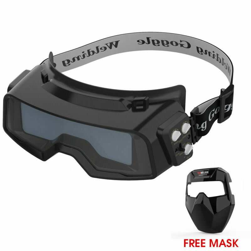 "True Color Auto Darken Welding Goggle for Weld/Cut/Grind 4.82""x1.37"" Active View"