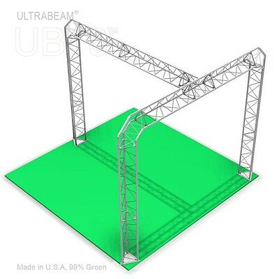 Trade Show Booth 10 X 10 X 8 Made Of Aluminum Triangle Trusses